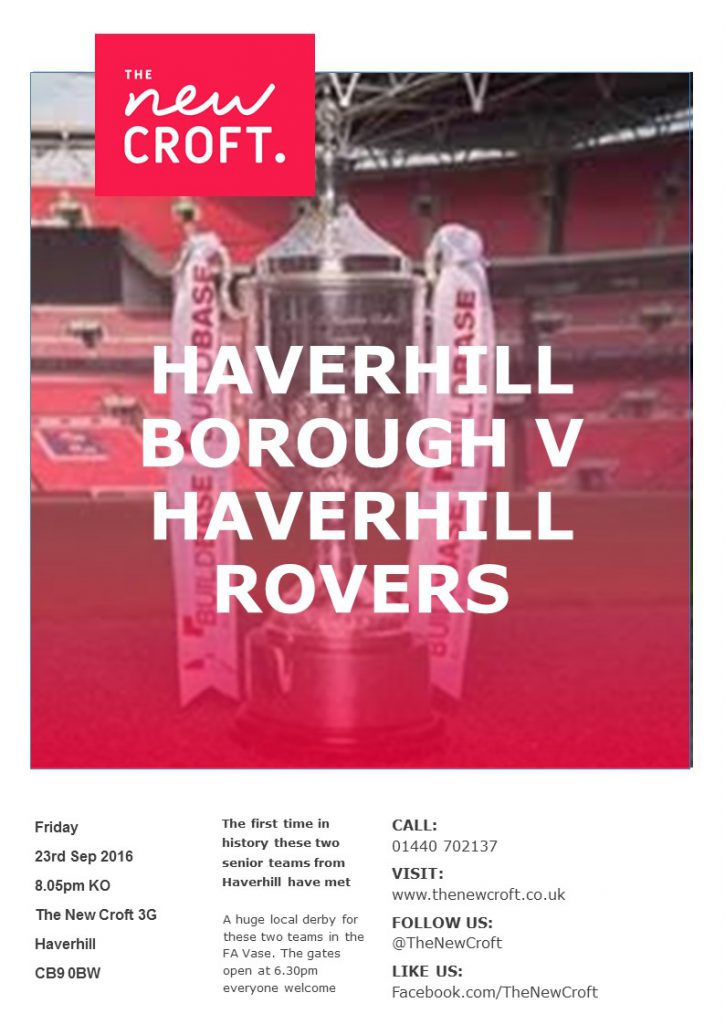 FA Vase Friday 23rd September- Haverhill Borough V Haverhill Rovers