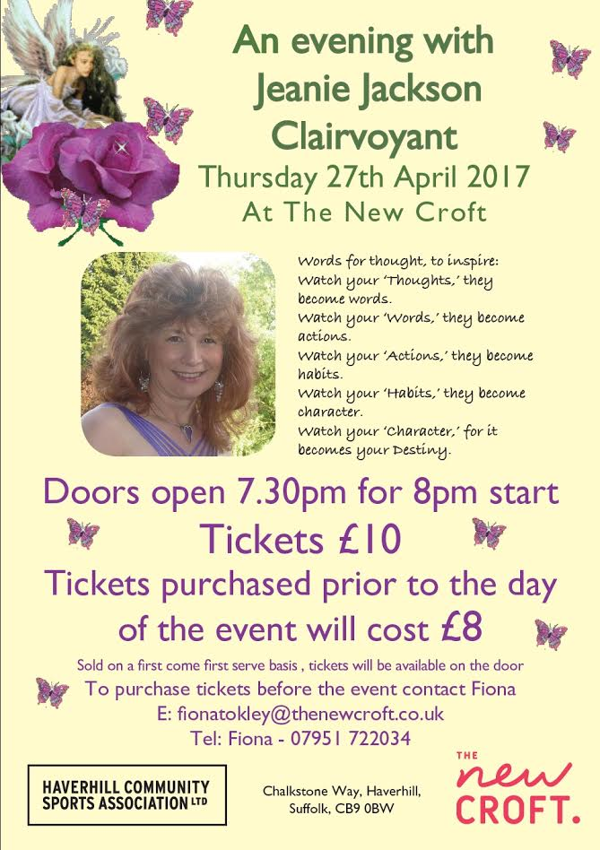 An Evening with Jeanie Jackson, Clairvoyant