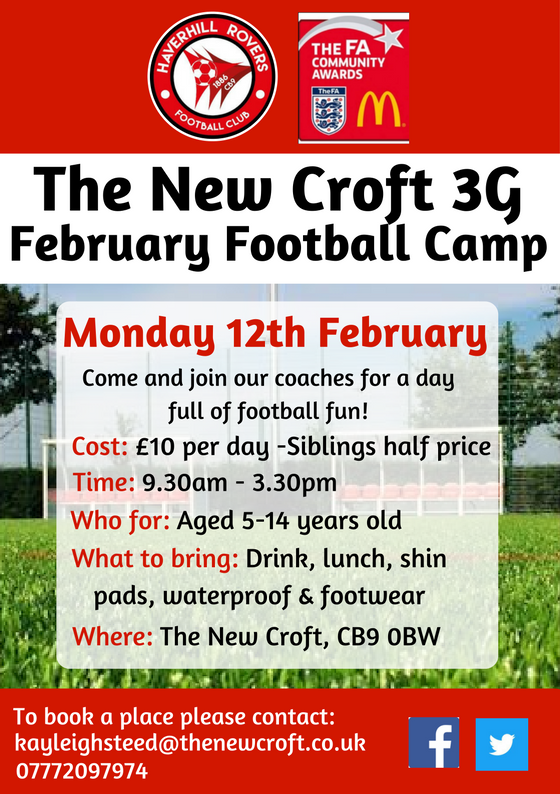 February Half Term football Camp @ The New Croft.