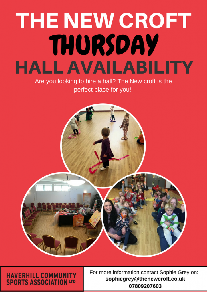 Thursday Hall Hire Availability