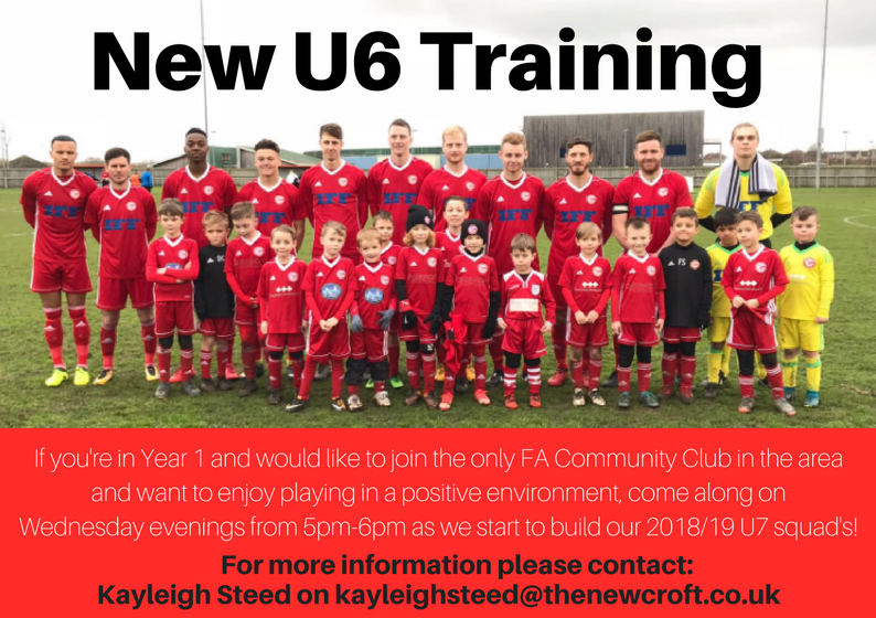 U6 training sessions @ The New Croft