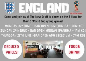 On The Big Screen….All England World Cup Group Games