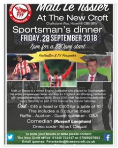 Sportsman's Dinner With Matt Le Tissier