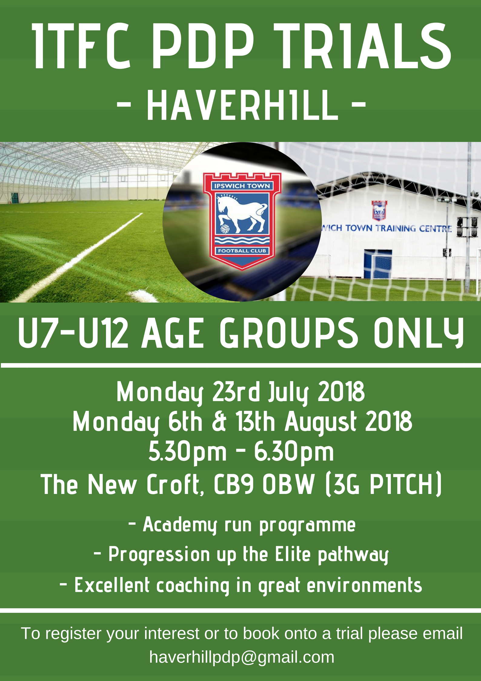 ITFC PDP Trial @ The New Croft