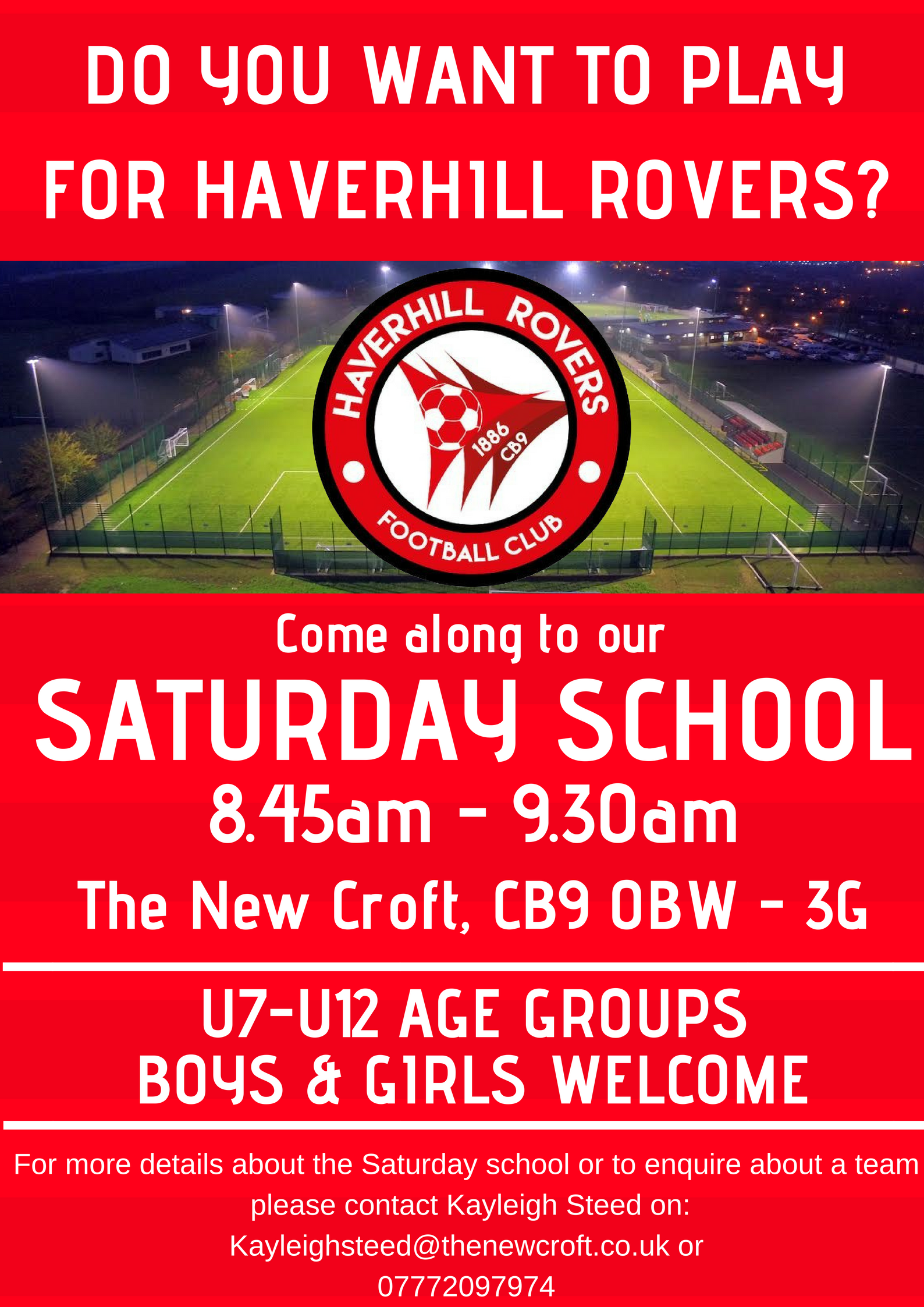 Saturday School – New Players Welcome