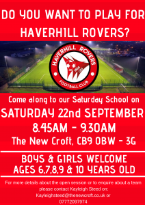 Haverhill Rovers Youth…Saturday Session
