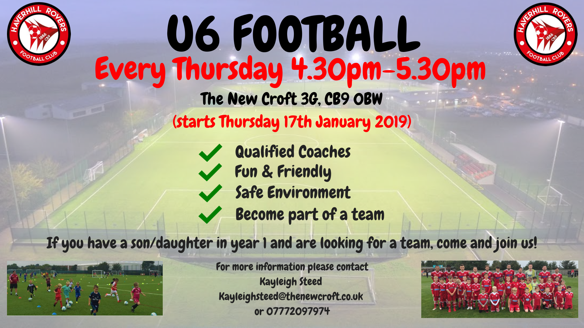 New U6 Training Programme