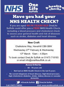 FREE NHS Health Check…