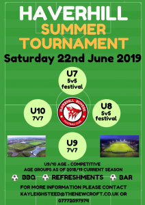 Summer Tournament – Limited Spaces!!