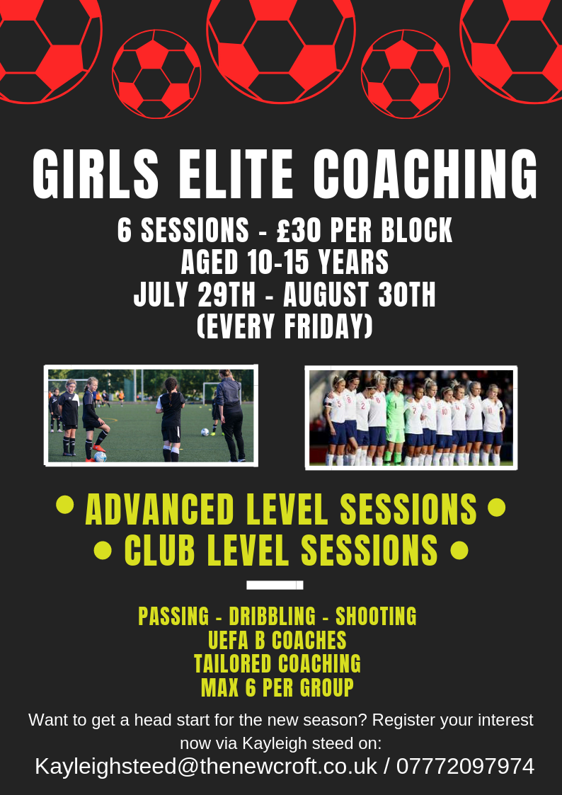 GIRLS ELITE SESSIONS – NEW BLOCK