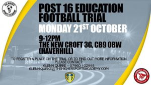 Post 16 Education Football Trial