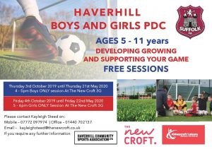BOYS AND GIRLS FREE PDC SESSION