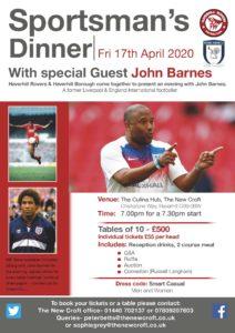 Sportsmans Dinner with John Barnes