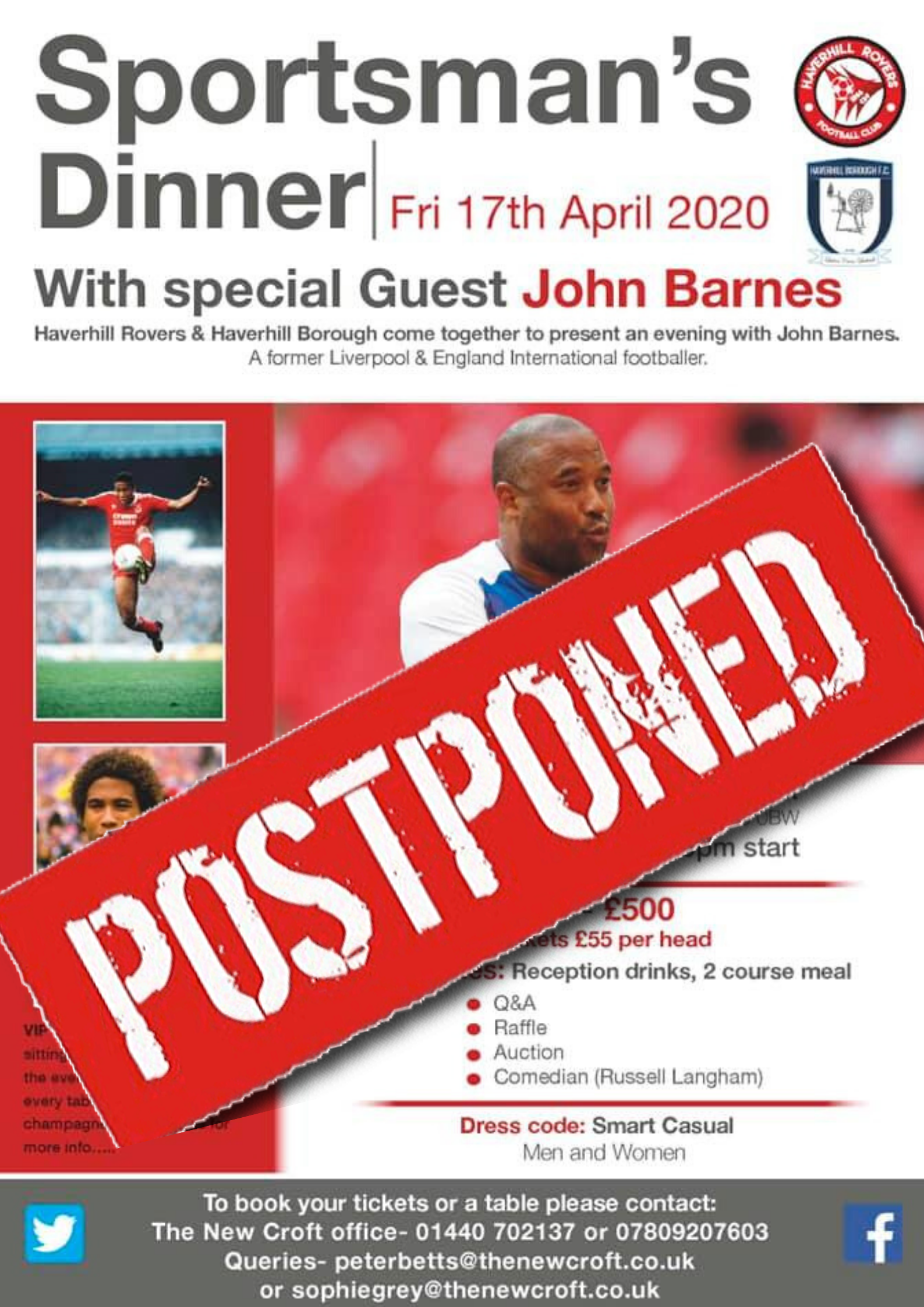 Sportsman's Dinner Postponed