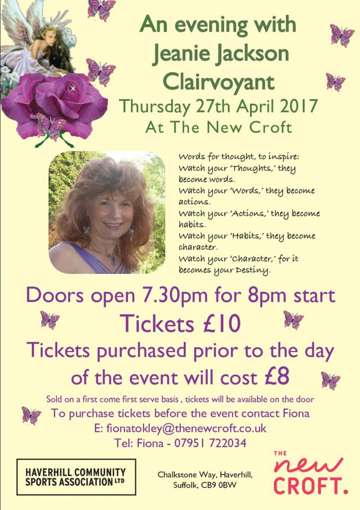 Upcoming Clairvoyant Evening