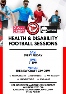 Disability Football Session….
