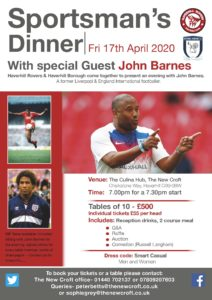 Sportsmans Dinner with John Barnes