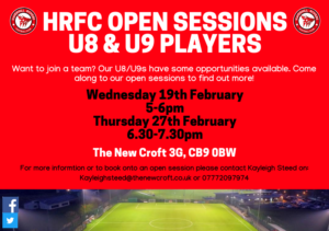 U8 U9 OPEN SESSION