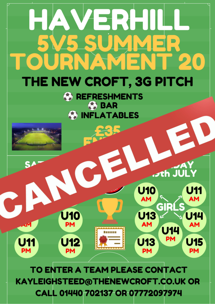 Summer Tournament Cancelled