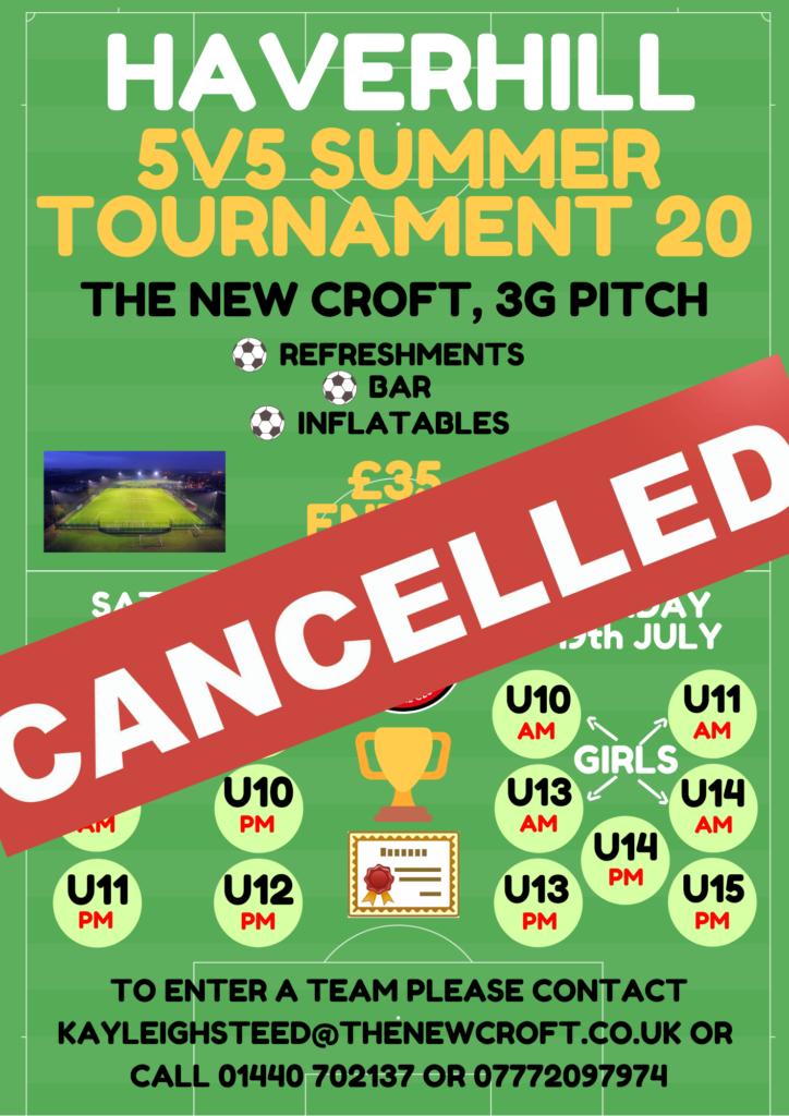 Summer Tournament Cancelled