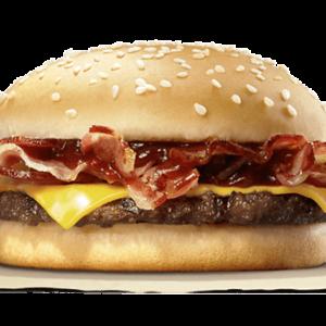 Cheese bacon burger