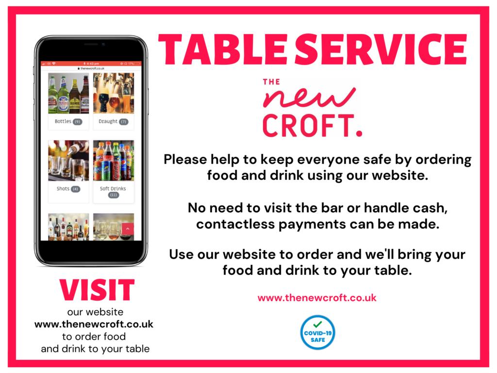Beer Garden – Table Service