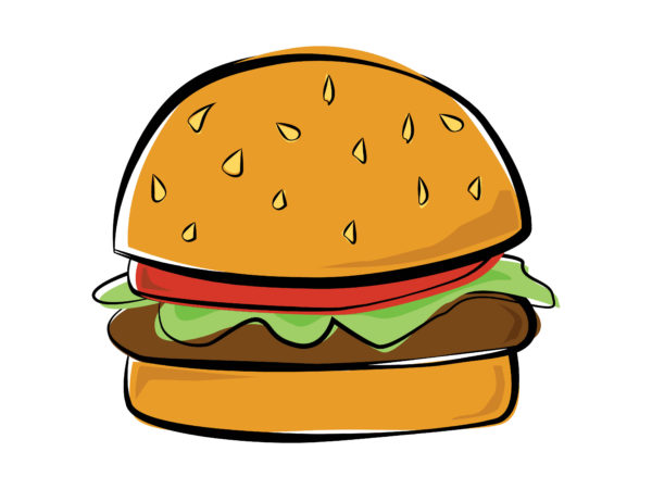 Drawing Of A Burger Simple Hamburger Drawing