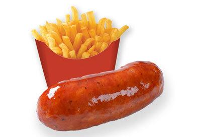 sausage-chips