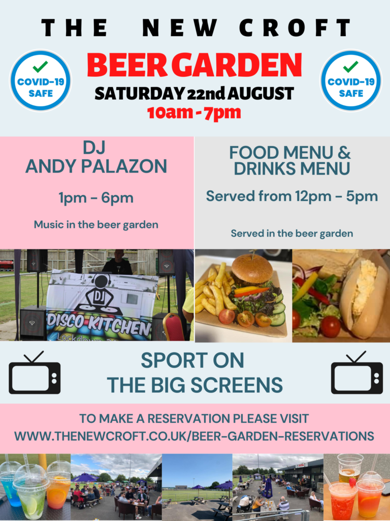 Beer Garden – Saturday 22nd