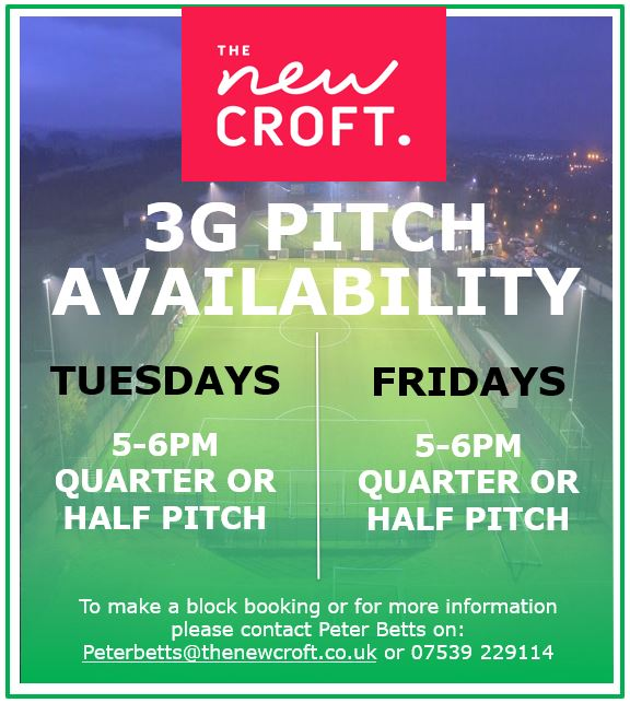 3G Pitch Availability