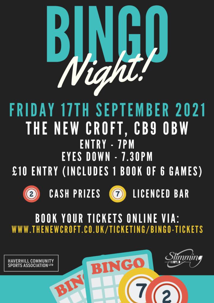 The New Croft & Slimming World Bingo Night!
